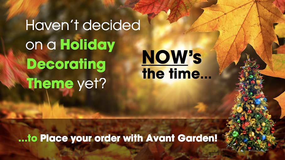 Place Your Order for Holiday Decorating